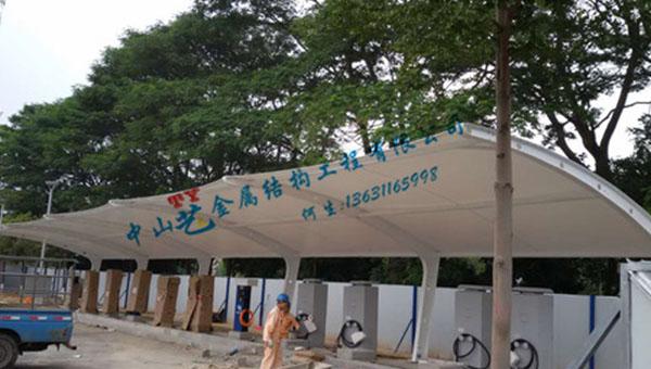 东莞长安体育馆充电桩车棚