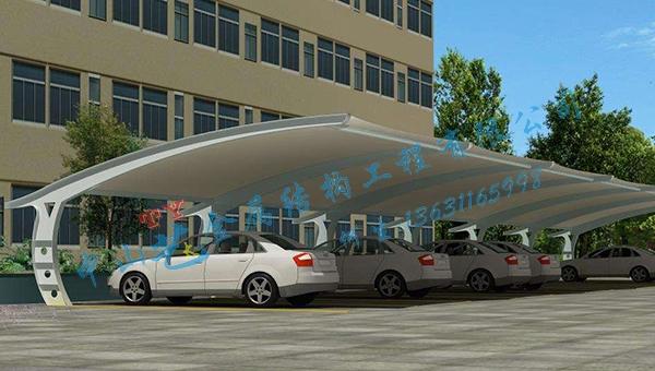 张拉膜车棚的建筑材料有什么优势